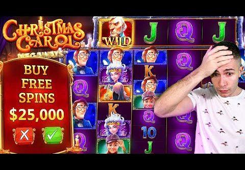 $25,000 Christmas Carol Megaways Bonus Buy and I go MYSTERY SPINS (25K SUB SPECIAL #16) 🎅