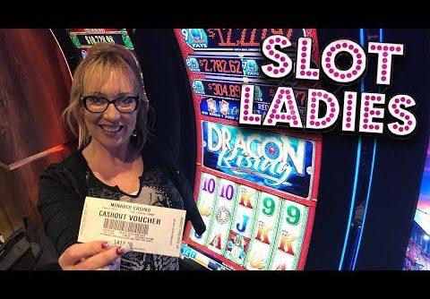 🔵 7 BLUE BALLS!! 🔵Big WIN on Dragon Rising with Laycee! 🎰  Slot Ladies