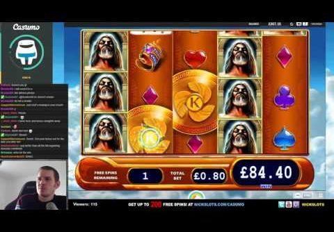 SUPER MEGA WIN on Kronos Slot – £0.80 Bet