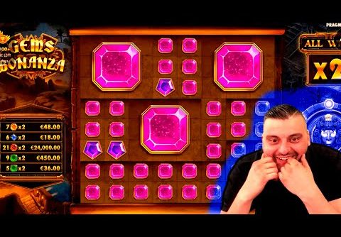 NEW RECORD EXTRA WIN on Gems Bonanza Slot! BIGGEST WINS OF THE WEEK!