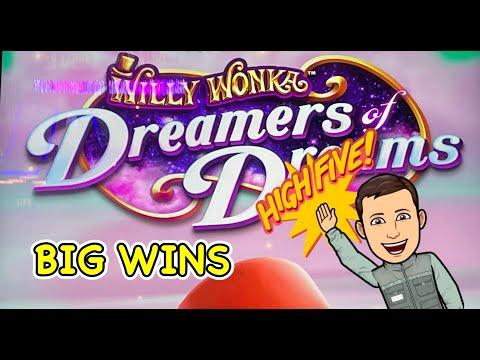 BIG WINS: Wonka Dreamers of Dreams and Crazy Rich Asians slots