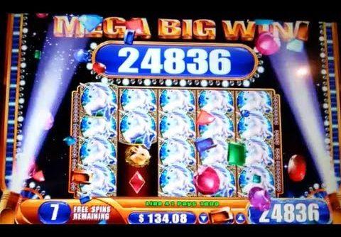 MEGA BIG WIN! Mystical Unicorn Bonus + Progressive WMS Slot Machine