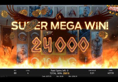 Vikings Slot (NetEnt) – Raid Spins HUGE WIN!