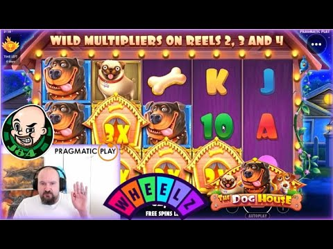 Wuff!! Super Big Win From The Dog House Slot!!