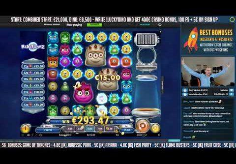 RECORD WIN!!! Reactoonz Big win – Casino – Online slots – Jackpot