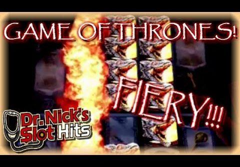 **HUGE WIN!!/LIVE PLAY!!!** Game of Thrones Slot Machine