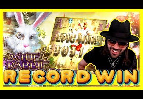 ROSHTEIN RECORD WIN ON WHITE RABBIT!! Big Time Gaming Slot