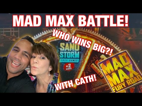 🌪 MAD MAX SLOT MACHINE BIG WIN BONUS!! | $6 MAX BETS w/ CATH! 🎰🎉💰🤩