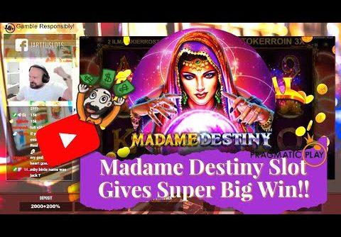 Madame Destiny Slot Gives Super Big Win!!