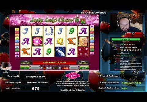 Big Bet!! Lucky Lady's Charm 6 Gives Super Big Win!!