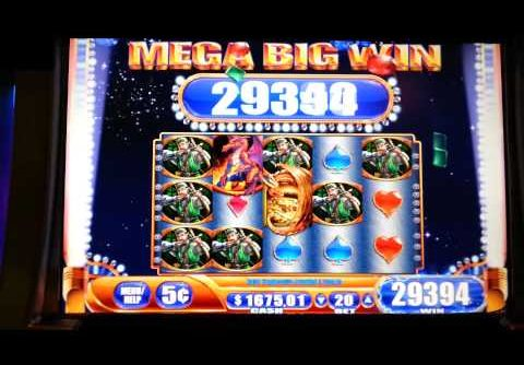 Dragon's Fire Jackpot Handpay Mega Big Win Progressive WMS 5¢ Slot Machine