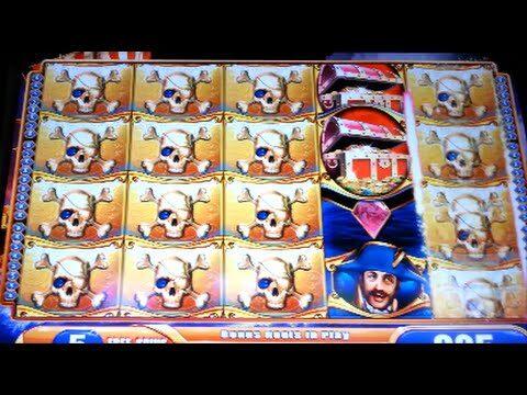 Pirate Ship *MAX BET* BIG WIN! Bonus WMS Slot Machine