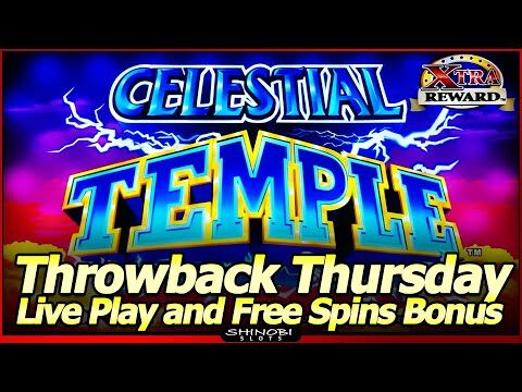Celestial Temple Slot Machine – Throwback Thursday, Live Play with Free Spins and Nice Line Hits