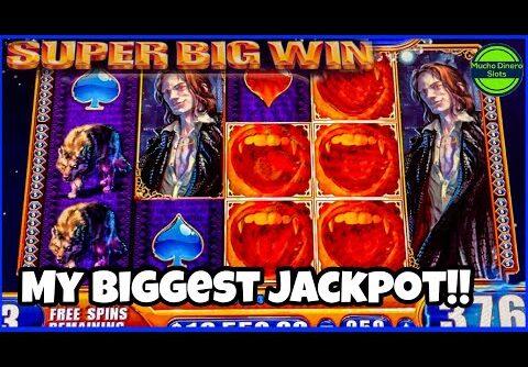 MY BIGGEST JACKPOT ON VAMPIRES EMBRACE SLOT/ FREE GAMES INSANE MASSIVE WINS/ MAX BET HIGH LIMIT