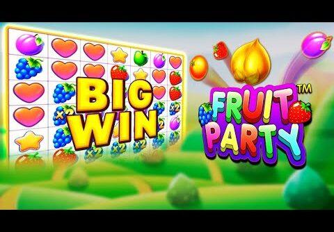 TOP 5 HUGE WIN  ON FRUIT PARTY 2 🍓 🍏 🍎BIG WIN SLOTS #47