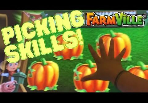 Picking huge money pumpkins on Farmville Slot Machine