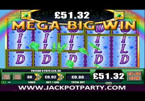 £600 MEGA BIG WIN (1000 X STAKE) ON WIZARD OF OZ™ SLOT GAME AT JACKPOT PARTY®