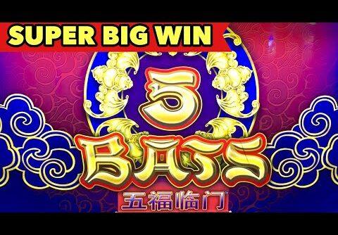 🦇5 BATS SUPER BIG WIN🦇1ST 2ND BONUS WERE HORRIBLE HOW ABOUT 3RD? LOVE THE OLD CLASSIC SLOT MACHINE