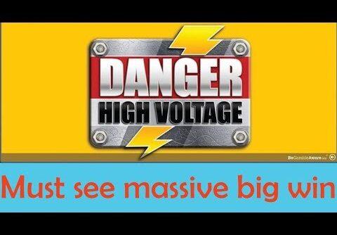 Danger High Voltage Slot mega big win – MUST SEE | Big Time Gaming | CasinoCasino