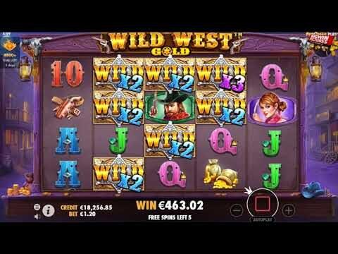 Wild West Gold Slot – Wilds, Wilds, Wilds BIG WIN!